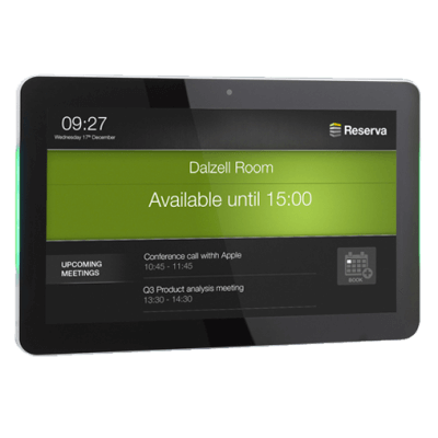 Eclipse Digital Media - Digital Signage Shop - Reserva 10 inch LED meeting room display