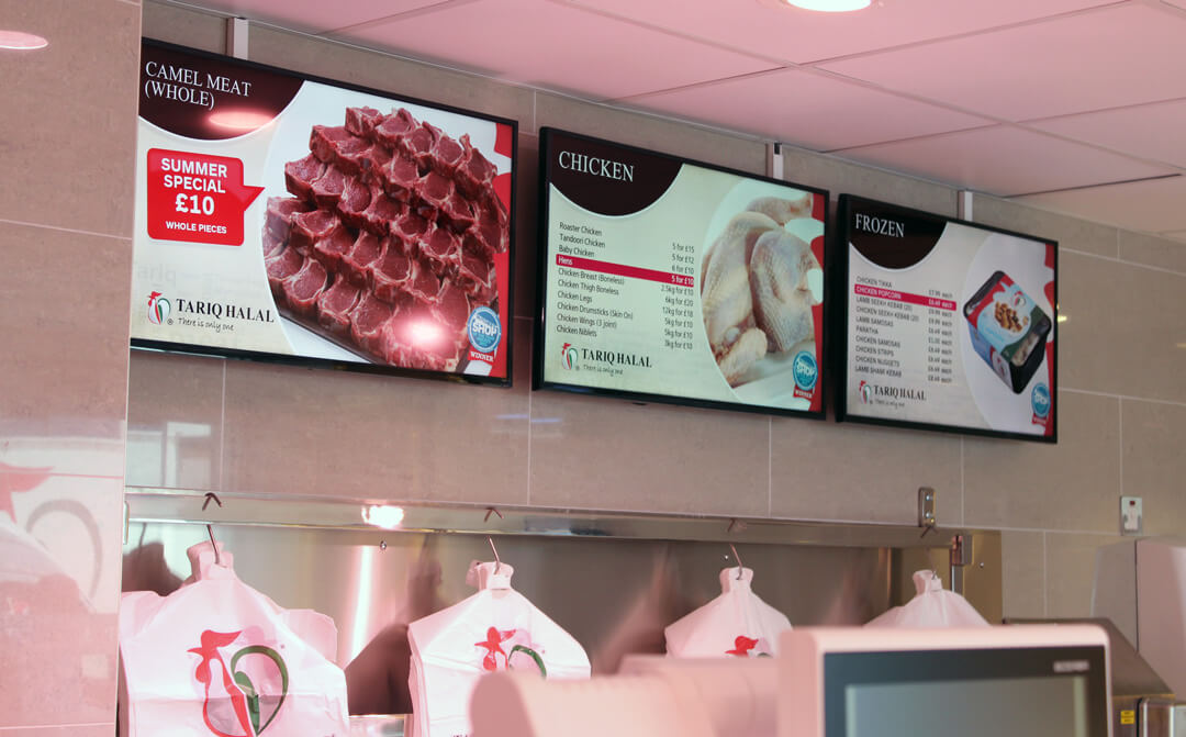 eclipse digital media digital signage project digital menu boards tariq halal meats example 2