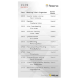 Eclipse Digital Media - Digital Signage Shop - Reserva Room Summary License 2