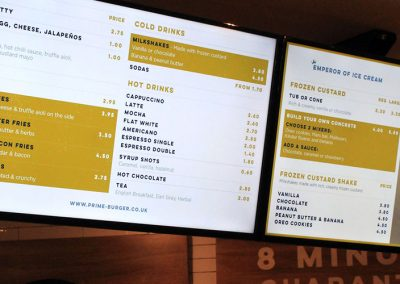 Eclipse Digtal Media Prime Burger Digital Menu Boards 2
