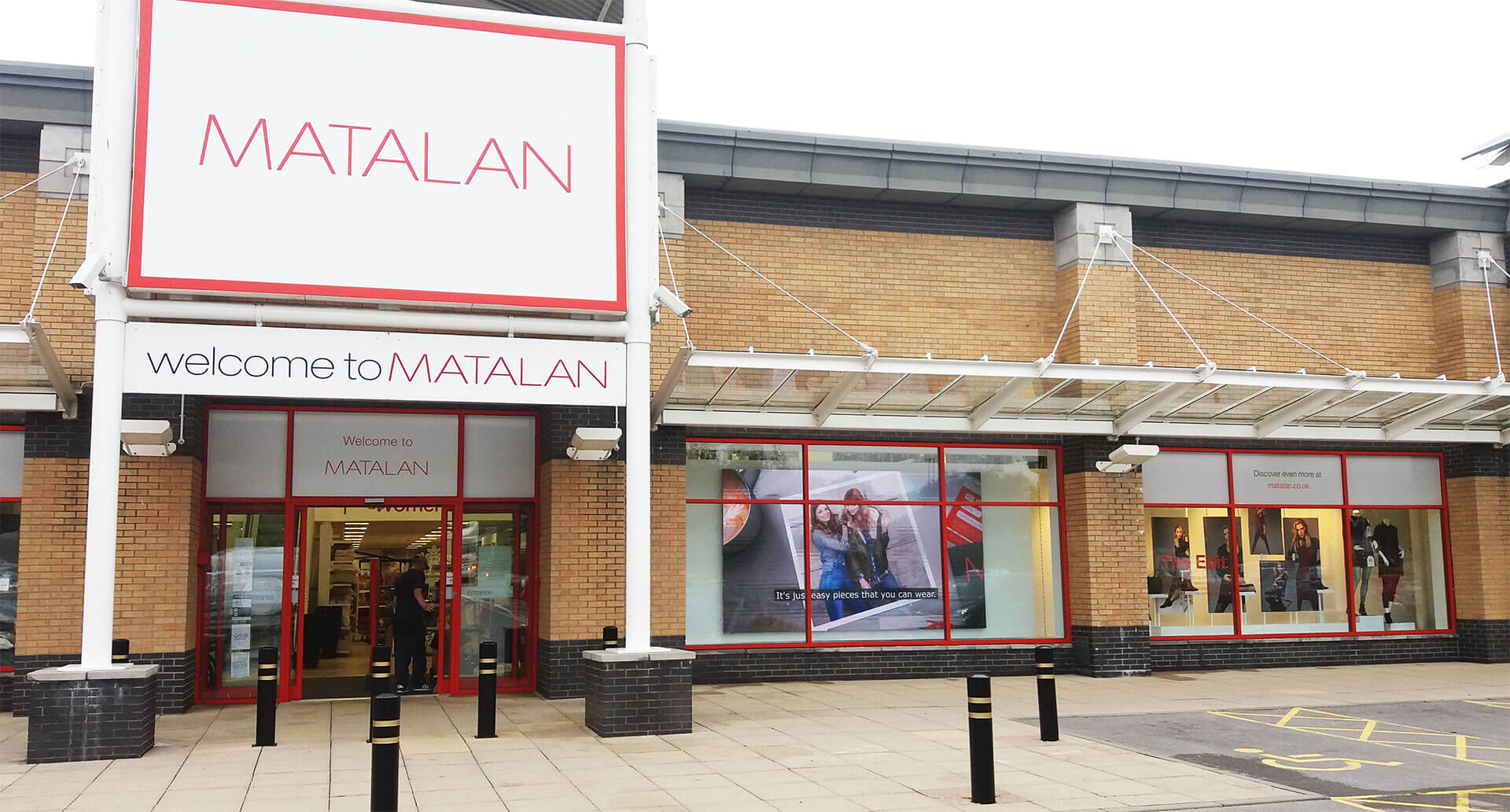 Eclipse Digital Media - Digital Signage Solutions - Matalan Indoor LED Wall - Outside Full