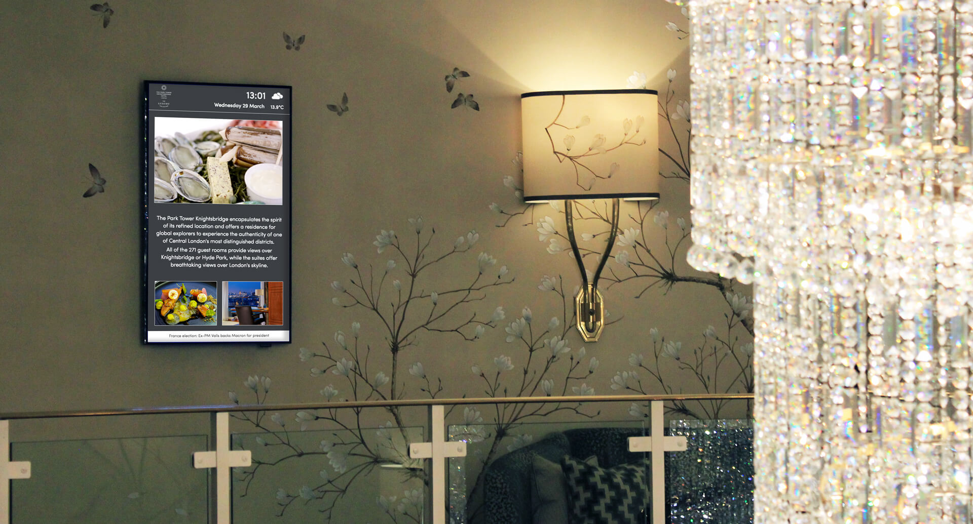 Eclipse Digital Media Digital Signage Project The Park Hotel Knightsbridge comms