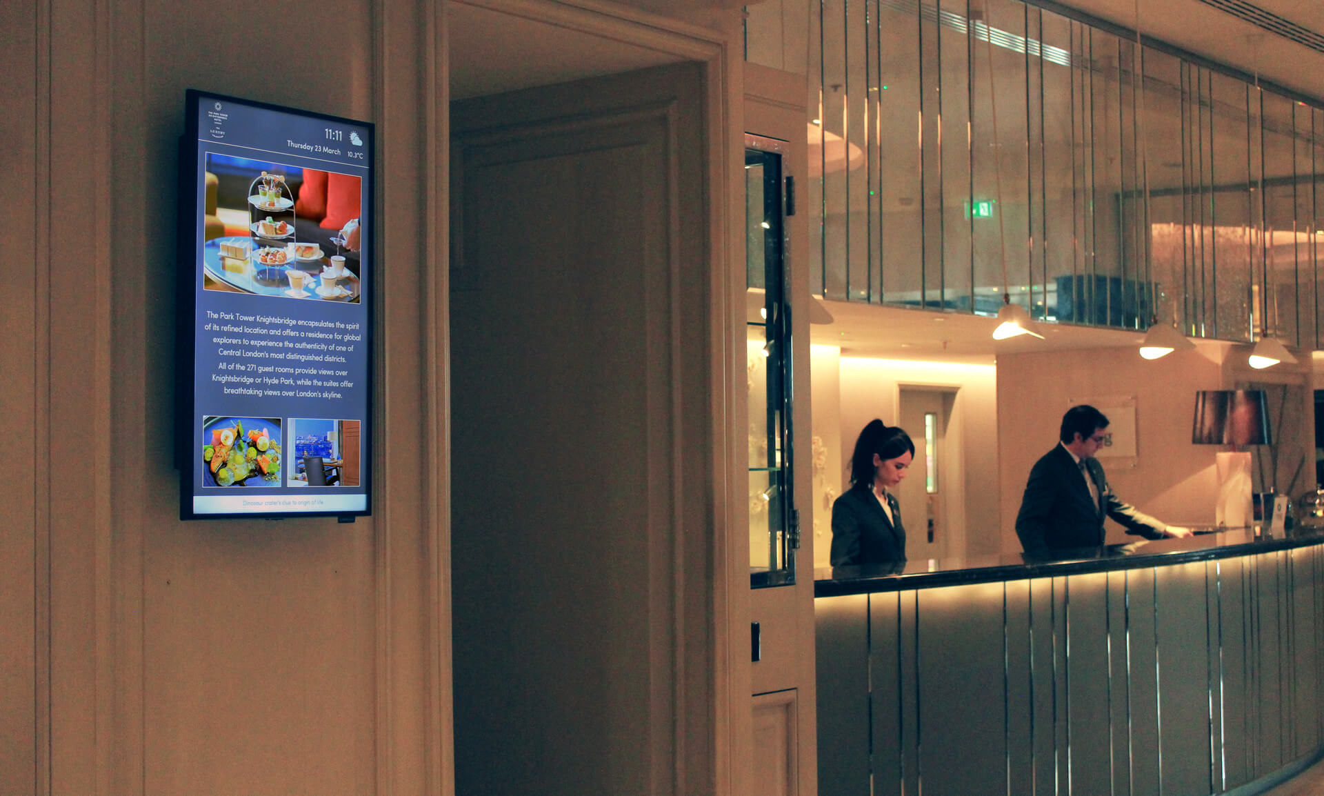 Eclipse Digital Media Digital Signage Project The Park Hotel Knightsbridge 16
