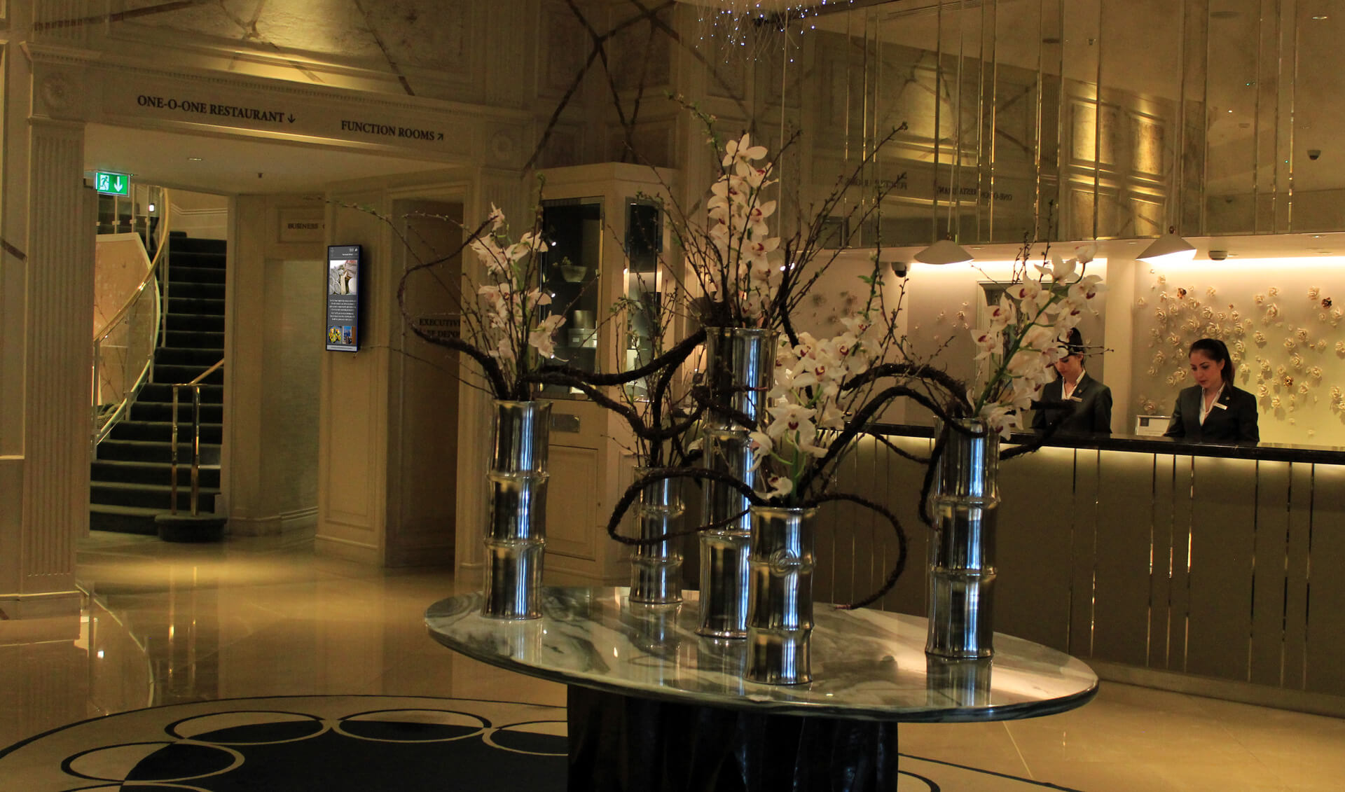Eclipse Digital Media Digital Signage Project The Park Hotel Knightsbridge lobby