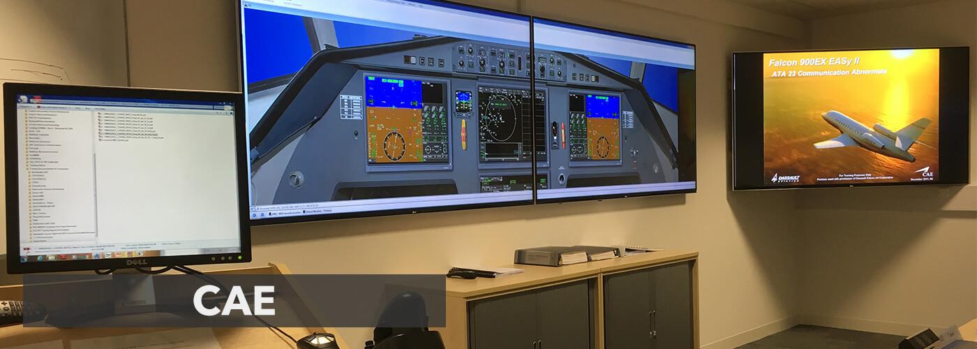 Eclipse Digital Media CAE Flight education Video Wall