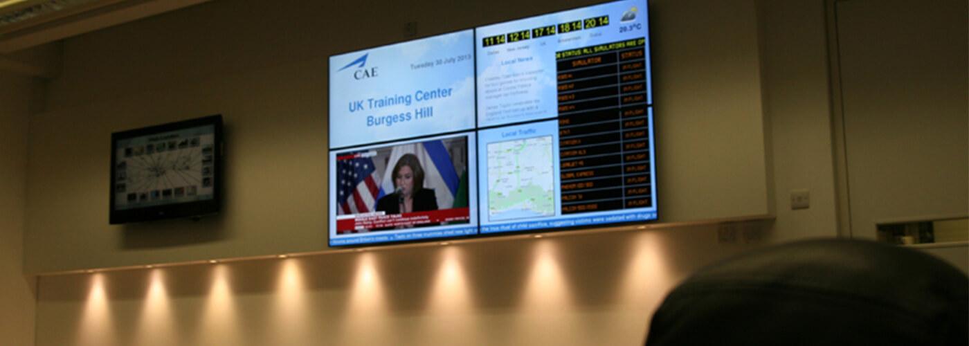 Eclipse Digital Media CAE Flight education Video Wall 2