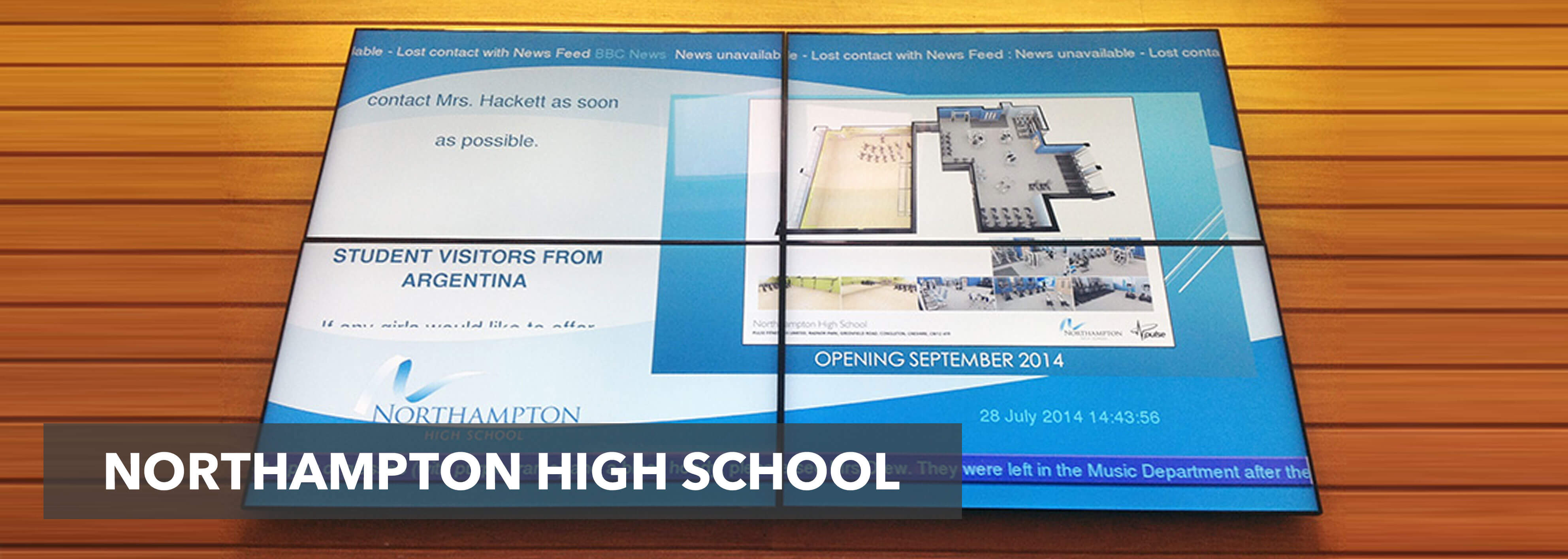 eclipse digital media digital signage video-walls-northampton-high-school