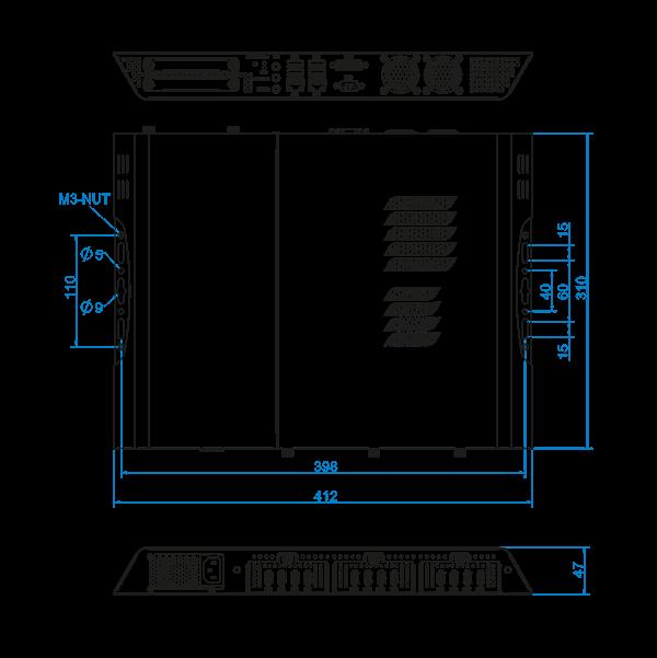 Eclipse Digital Media - Digital Signage and AV Shop - iBASE Digital Signage Media Player - SI-60E 12 Output Video Wall Player - Dimensions