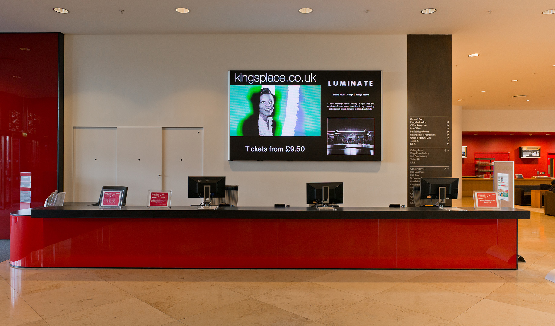 Eclipse Digital Media - Digital Signage & AV Solutions - Kings Place London Case Study - Indoor LED Narrow Pixel Pitch 2mm