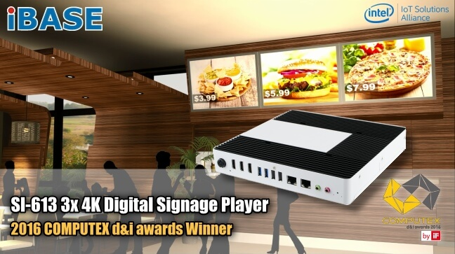 Eclipse Digital Media - Digital Signage Shop - iBase SI-613 3 x HDMI Outputs EDID