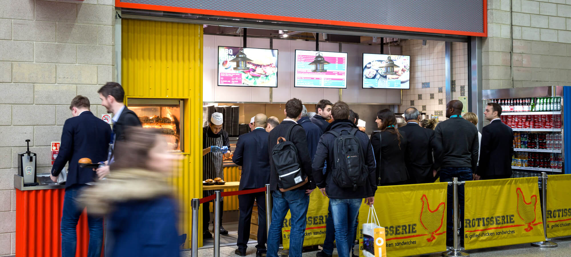 Eclipse Digital Media - Digital Signage & AV Solutions - Digital Menu Boards - Chicken Rotisserie London ExCel
