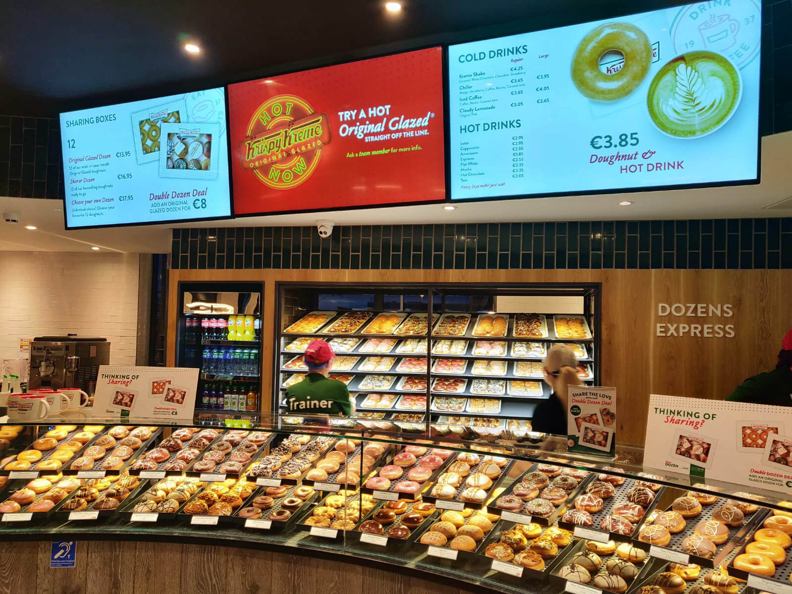 eclipse digital media - digital signage and av - digital menu boards - krispy kreme doughnuts