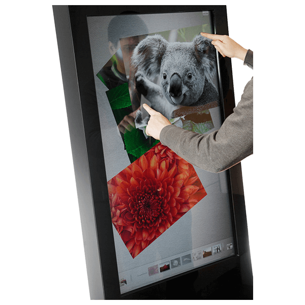 Eclipse Digital Media - Digital Signage Shop - interactive freestanding infrared touch poster touch points