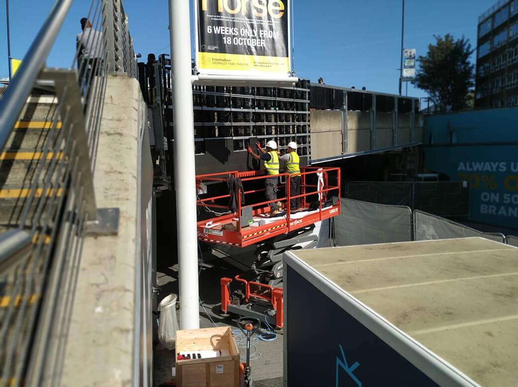 Eclipse Digital Media - Digital Signage and AV Solutions - Wembley Park - Bobby Moore Bridge LED - Installation