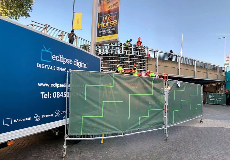 eclipse digital media - digital signage and av solutions - wembley park - quintain - bobby moore bridge - installation - dooh LED billboard