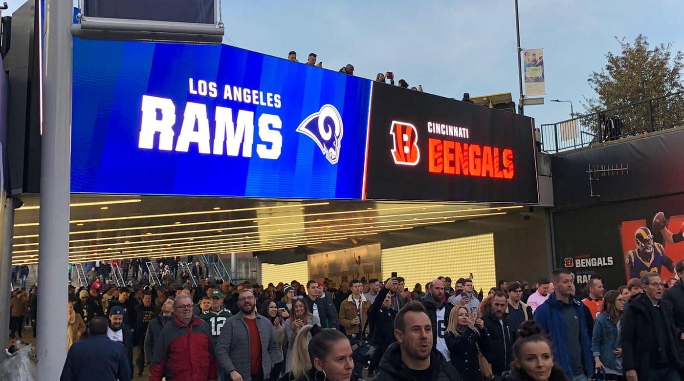 Eclipse Digital Media - Digital Signage and AV Solutions - Wembley Park - Bobby Moore Bridge LED - NFL