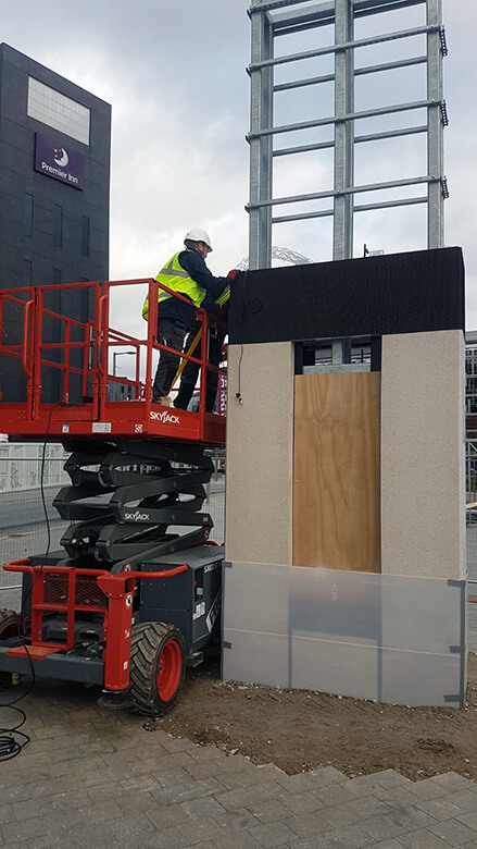 Eclipse Digital Media - Digital Signage and AV Solutions - Wembley Park - White Horse Square LED Totems - Installing Single