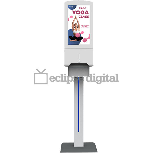 Eclipse Digital Media - Digital Signage Shop - Hand sanitiser advertising display