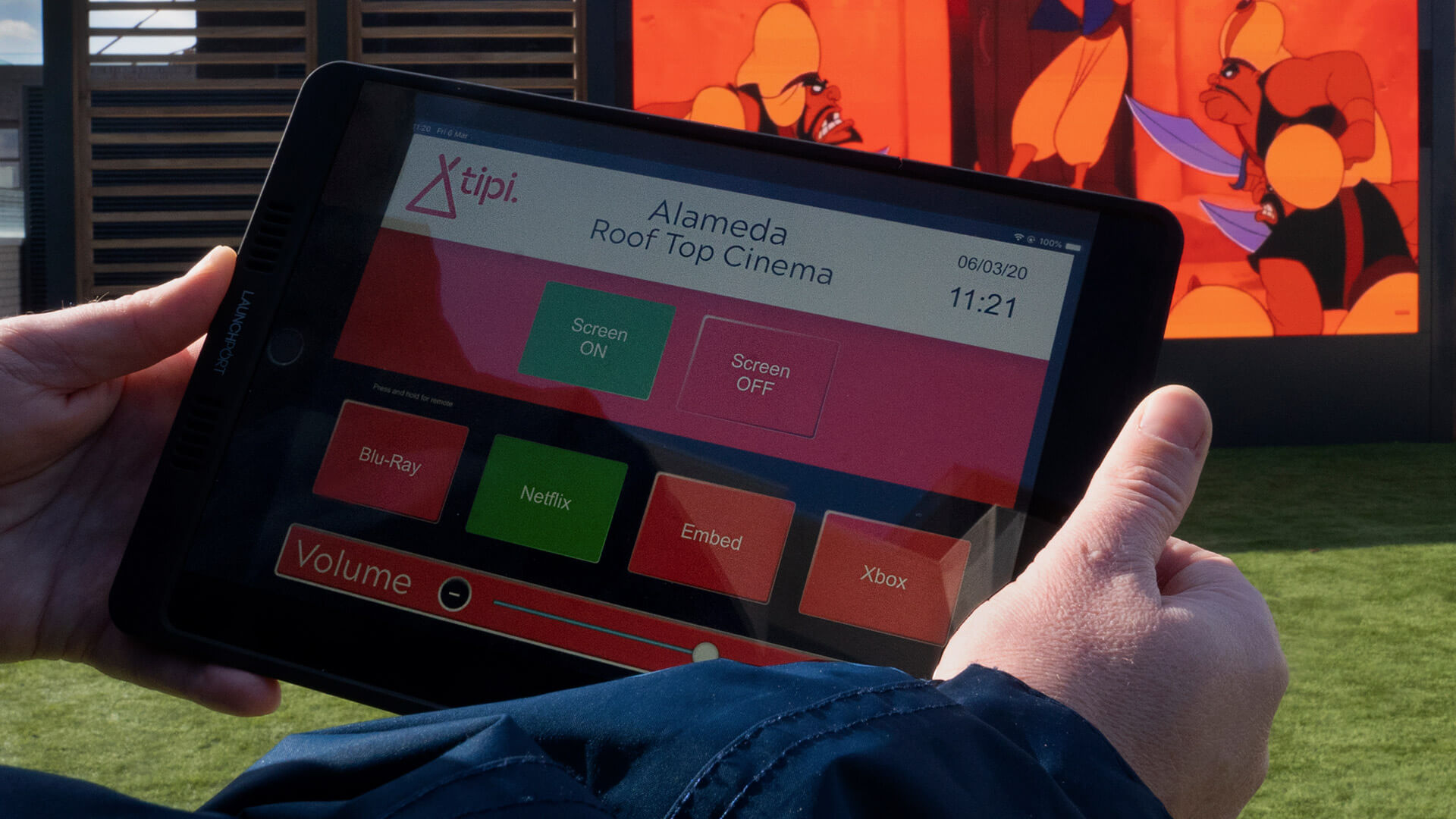 Eclipse Digital Media - Digital Signage and AV Solutions - AV Technology Awards 2020 Winners - Rooftop Cinema Alameda iPad Controller