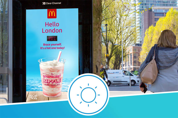 Eclipse Digital Media - Digital Signage and AV - McDonalds Weather Related Content