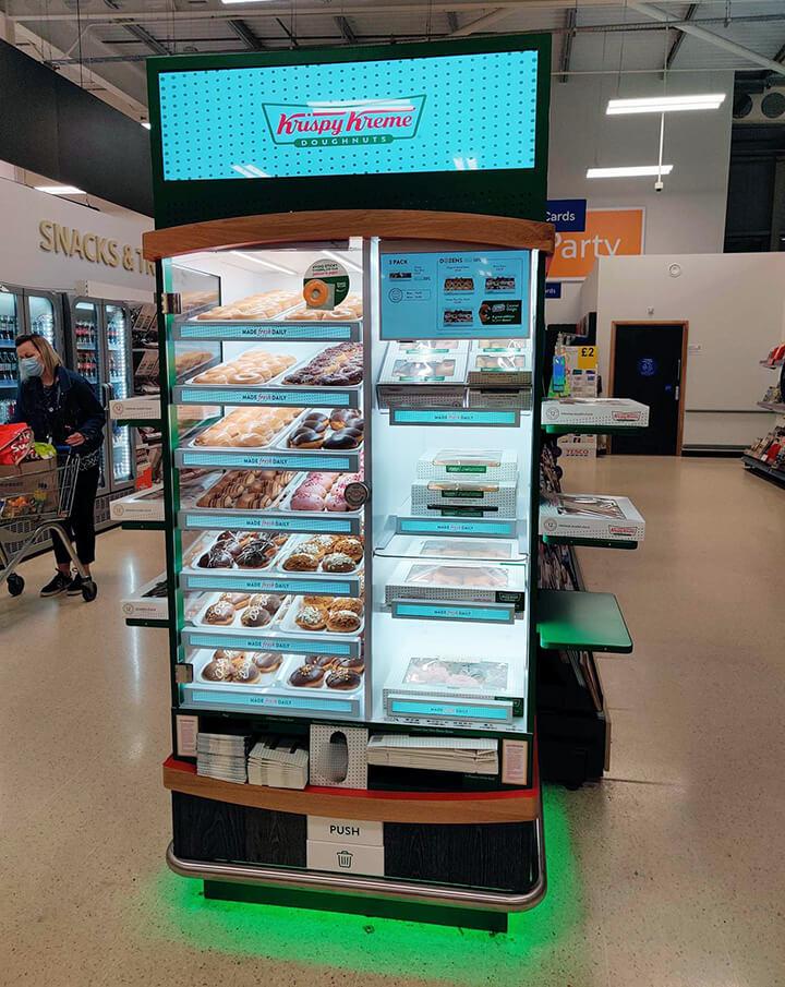 Eclipse Digital Media - Digital Signage, LED and AV Specialists - Krispy Kreme GEN8 Cabinets Tesco