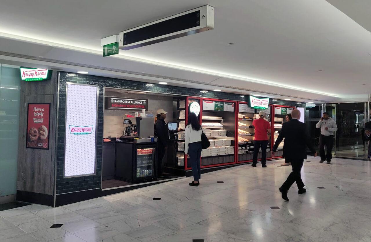 Eclipse Digital Media - Digital Signage, LED and AV Specialists - Krispy Kreme Canary Wharf Direct View LED