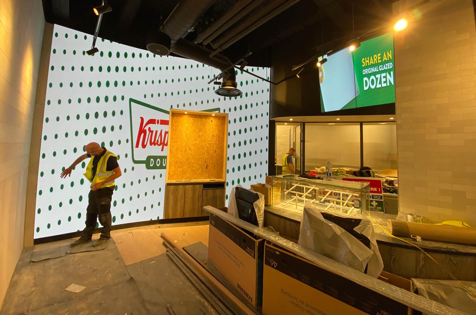 Eclipse Digital Media - Digital Signage, LED and AV Specialists - Krispy Kreme Westfield Stratford 2x1 Menu & LED